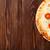 Italiaans · pizza · kaas · tomaten · basilicum · houten · tafel - stockfoto © karandaev