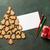 gingerbread cookies christmas tree and greeting card stock photo © karandaev