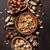 fenyőfa · diók · kő · asztal · felső · kilátás - stock fotó © karandaev
