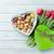 Rood · tulp · bloemen · boeket · hart · geschenkdoos - stockfoto © karandaev