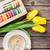 sütik · virágcsokor · citromsárga · finom · virágok · háttér - stock fotó © karandaev