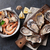 fresh seafood scallops oysters and shrimps stock photo © karandaev