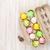 színes · húsvéti · tojások · fa · asztal · felső · kilátás · copy · space - stock fotó © karandaev