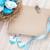 húsvét · üdvözlőlap · kék · fehér · tojások · fészek - stock fotó © karandaev