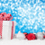 christmas background with baubles and gift box stock photo © karandaev