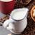 tazza · di · caffè · tavolo · in · legno · chicchi · di · caffè · caffè · buio · colazione - foto d'archivio © karandaev