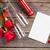 red roses with valentines day card and champagne stock photo © karandaev