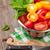 fresh colorful tomatoes and basil stock photo © karandaev