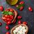 チーズ · 石 · ブルーチーズ · 新鮮な · ハーブ · 暗い - ストックフォト © karandaev