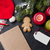 notepad for christmas letter gift box wrapping stock photo © karandaev