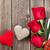 üç · sevmek · kalpler · asılı · ahşap · doku - stok fotoğraf © karandaev