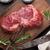 crudo · carne · negro · superior · vista - foto stock © karandaev