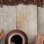 чашку · кофе · специи · шоколадом · деревянный · стол · текстуры · копия · пространства - Сток-фото © karandaev