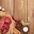filé · bife · temperos · mesa · de · madeira · topo - foto stock © karandaev
