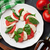 mozzarella · queso · tomate · albahaca · caprese · ensalada · caprese - foto stock © karandaev