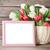 kolorowy · tulipany · bukiet · koszyka - zdjęcia stock © karandaev