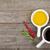 taze · otlar · zeytinyağı · ahşap · masa · gıda · ahşap - stok fotoğraf © karandaev