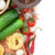 frescos · ingredientes · cocina · pasta · tomate · pepino - foto stock © karandaev
