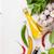 fresh herbs and spices on garden table stock photo © karandaev