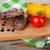 steak with grilled corn and tomato stock photo © karandaev