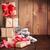 Noël · coffret · cadeau · branche · couvert · neige - photo stock © karandaev