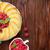 meyve · kek · beyaz · suluboya · örnek · doğum · günü - stok fotoğraf © karandaev