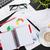 kantoor · tabel · notepad · computer · koffiekopje · bloem - stockfoto © karandaev