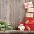 christmas gift boxes and fir tree branch stock photo © karandaev