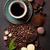 kahve · fincanı · fasulye · çikolata · taş · üst · görmek - stok fotoğraf © karandaev