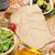 rode · wijn · kaas · prosciutto · brood · groenten · specerijen - stockfoto © karandaev