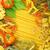 イタリア語 · パスタ · トマト · バジル · ニンニク - ストックフォト © karandaev