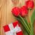 тюльпаны · шкатулке · настоящее · корзины · белый - Сток-фото © karandaev