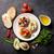 brinde · sanduíches · abacate · tomates · azeitonas · pedra - foto stock © karandaev