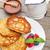 fresco · framboesa · sobremesa · de · servido · branco - foto stock © karandaev