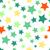 seamless background with colorful stars stock photo © karandaev
