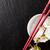 japán · szusi · evőpálcikák · szójaszósz · tál · sakura - stock fotó © karandaev