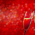 two champagne glasses over red christmas background stock photo © karandaev