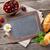 Blackboard · tekst · kamille · bloemen · houten · tafel · top - stockfoto © karandaev