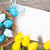 Pâques · carte · de · vœux · bleu · blanche · oeufs · jaune - photo stock © karandaev
