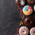 ドーナツ · カラフル · 黄色 · 背景 · 脂肪 - ストックフォト © karandaev