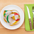 plate with measure tape knife and fork diet food stock photo © karandaev
