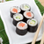 sushi · maki · conjunto · salmão · pepino · sakura - foto stock © karandaev