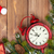 Weihnachten · Holz · Uhr · Schnee - stock foto © karandaev