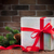christmas gift box and tree branch stock photo © karandaev