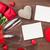 rode · rozen · hart · oude · houten · ontwerp · schoonheid - stockfoto © karandaev