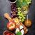 красный · белое · вино · винограда · сыра · бутылок - Сток-фото © karandaev
