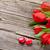 iki · şeker · kalpler · ahşap · kırmızı · düğün - stok fotoğraf © karandaev