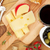 rode · wijn · kaas · olijven · brood · groenten · specerijen - stockfoto © karandaev