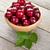 maduro · cerezas · tazón · aislado · blanco - foto stock © karandaev