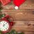 Natale · legno · clock · neve - foto d'archivio © karandaev